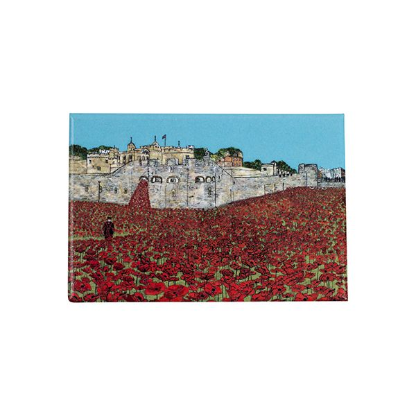 Poppies at the Tower of London Fridge Magnet