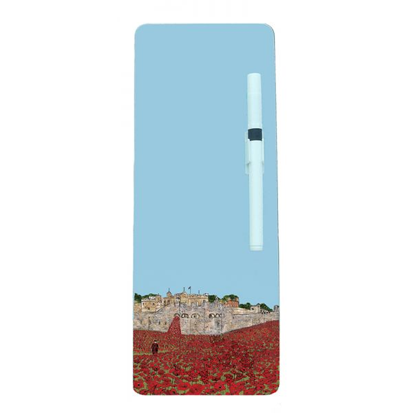 Tower of London Poppies Magnetic Memo Board