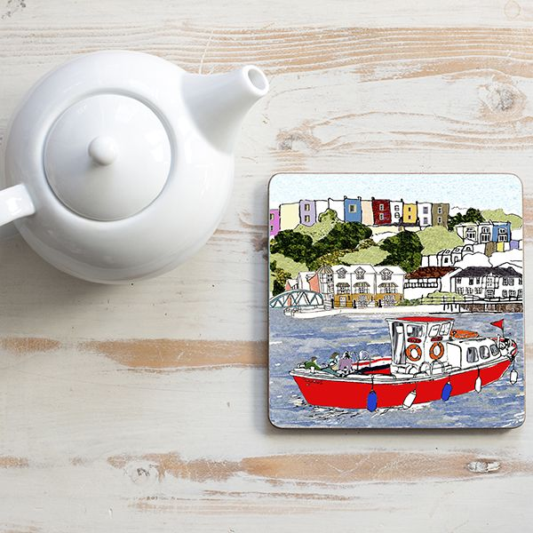 Bristol Red Ferry Teapot Stand Square