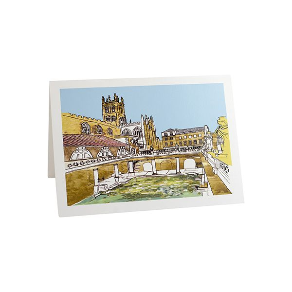 Roman Baths Greetings Card