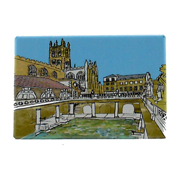 Roman Baths Fridge Magnet