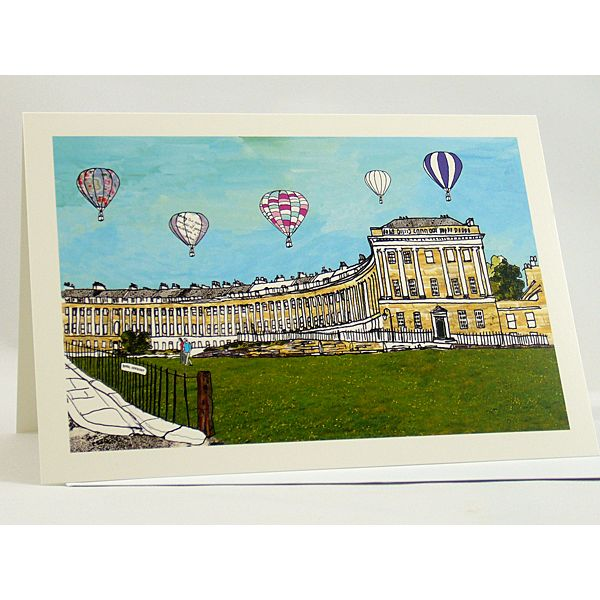 Royal Crescent Bath Greetings Card