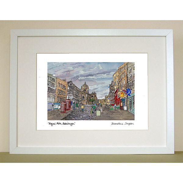 Royal Mile Edinburgh A4 Print