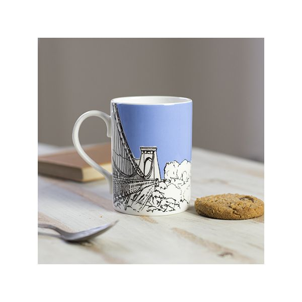 Sion Hill Blue Bone China Mug