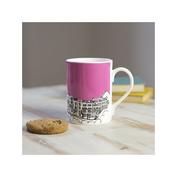 Sion Hill Pink Bone China Mug