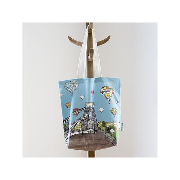 Balloons Over the Toll Bridge,  Bristol Tote Bag
