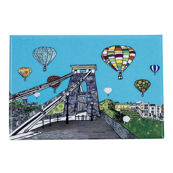 Balloons over the Toll Bridge Bristol Fridge Magnet