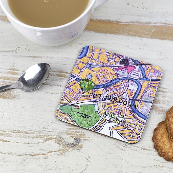 Bristol Map Coaster Totterdown