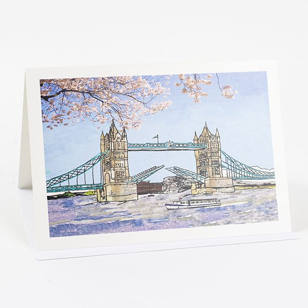 Tower Bridge Greetings Card