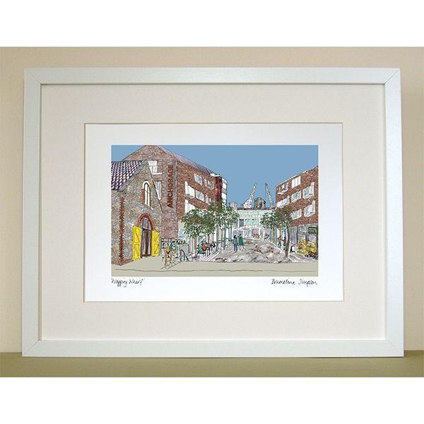 Wapping Wharf Bristol Print